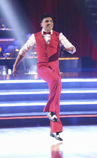 DANCING WITH THE STARS - &#34;Episode 1602&#34; - The competition heats up on &#34;Dancing with the Stars&#34; as the celebrities take on new dance routines and fight for survival, MONDAY, MARCH 25 &#40;8:00-10:02 p.m., ET&#41;. The couples will be performing a Jive, Quickstep or Jazz routine. &#40;ABC&#47;Adam Taylor&#41; VICTOR ORTIZ <span class=meta>(Photo&#47;Adam Taylor)</span>