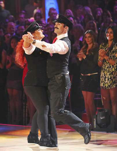 DANCING WITH THE STARS - &#34;Episode 1602&#34; - The competition heats up on &#34;Dancing with the Stars&#34; as the celebrities take on new dance routines and fight for survival, MONDAY, MARCH 25 &#40;8:00-10:02 p.m., ET&#41;. The couples will be performing a Jive, Quickstep or Jazz routine. &#40;ABC&#47;Adam Taylor&#41; WYNONNA JUDD, TONY DOVOLANI <span class=meta>(Photo&#47;Adam Taylor)</span>
