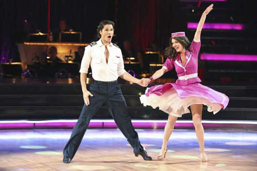 "<div class=""meta image-caption""><div class=""origin-logo origin-image ""><span></span></div><span class=""caption-text"">DANCING WITH THE STARS - ""Episode 1602"" - The competition heats up on ""Dancing with the Stars"" as the celebrities take on new dance routines and fight for survival, MONDAY, MARCH 25 (8:00-10:02 p.m., ET). The couples will be performing a Jive, Quickstep or Jazz routine. (ABC/Adam Taylor) GLEB SAVCHENKO, LISA VANDERPUMP (Photo/Adam Taylor)</span></div>"