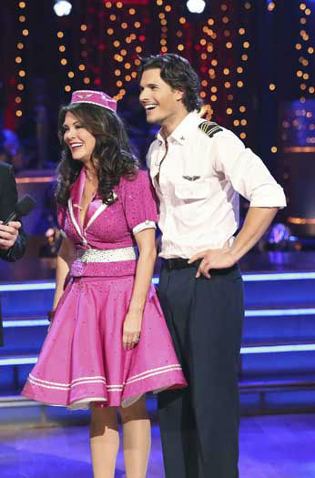 DANCING WITH THE STARS - &#34;Episode 1602&#34; - The competition heats up on &#34;Dancing with the Stars&#34; as the celebrities take on new dance routines and fight for survival, MONDAY, MARCH 25 &#40;8:00-10:02 p.m., ET&#41;. The couples will be performing a Jive, Quickstep or Jazz routine. &#40;ABC&#47;Adam Taylor&#41; LISA VANDERPUMP, GLEB SAVCHENKO <span class=meta>(Photo&#47;Adam Taylor)</span>