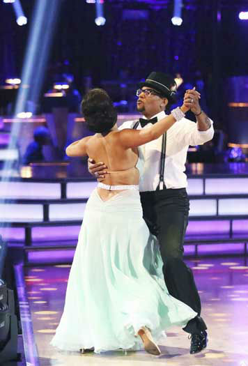 DANCING WITH THE STARS - &#34;Episode 1602&#34; - The competition heats up on &#34;Dancing with the Stars&#34; as the celebrities take on new dance routines and fight for survival, MONDAY, MARCH 25 &#40;8:00-10:02 p.m., ET&#41;. The couples will be performing a Jive, Quickstep or Jazz routine. &#40;ABC&#47;Adam Taylor&#41; CHERYL BURKE, D.L. HUGHLEY <span class=meta>(Photo&#47;Adam Taylor)</span>