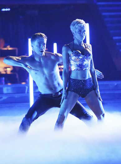 "<div class=""meta image-caption""><div class=""origin-logo origin-image ""><span></span></div><span class=""caption-text"">DANCING WITH THE STARS - ""Episode 1602"" - The competition heats up on ""Dancing with the Stars"" as the celebrities take on new dance routines and fight for survival, MONDAY, MARCH 25 (8:00-10:02 p.m., ET). The couples will be performing a Jive, Quickstep or Jazz routine. (ABC/Adam Taylor) DEREK HOUGH, KELLIE PICKLER (Photo/Adam Taylor)</span></div>"