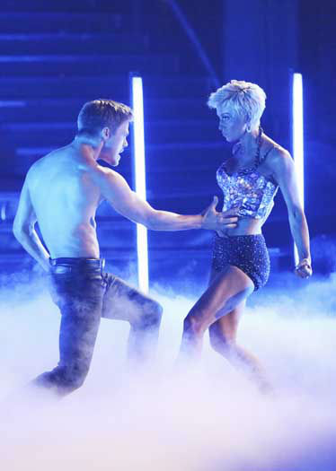 DANCING WITH THE STARS - &#34;Episode 1602&#34; - The competition heats up on &#34;Dancing with the Stars&#34; as the celebrities take on new dance routines and fight for survival, MONDAY, MARCH 25 &#40;8:00-10:02 p.m., ET&#41;. The couples will be performing a Jive, Quickstep or Jazz routine. &#40;ABC&#47;Adam Taylor&#41; DEREK HOUGH, KELLIE PICKLER <span class=meta>(Photo&#47;Adam Taylor)</span>