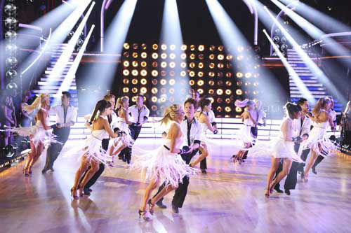 "<div class=""meta image-caption""><div class=""origin-logo origin-image ""><span></span></div><span class=""caption-text"">DANCING WITH THE STARS THE RESULTS SHOW - ""Episode 1602A"" - On TUESDAY, MARCH 26, one couple will face the first nail biting elimination on the season premiere of ""Dancing with the Stars the Results Show"" (9:00-10:01 p.m., ET). The show will feature a musical performance by signer Josh Groban, who is set to perform his current single, ""Brave,"" with an 18-piece band accompanied by ""Dancing with the Stars"" alumni Chelsie Hightower and Dmitry Chaplin. Adding to the excitement, acclaimed Swedish duo Icona Pop will perform their hit song, ""I Love It."" The results show will feature a spectacular opening performance by this season's pros and Troupe dancers. (ABC/Adam Taylor) DANCERS (Photo/Adam Taylor)</span></div>"