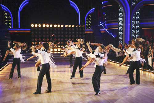 "<div class=""meta ""><span class=""caption-text "">DANCING WITH THE STARS THE RESULTS SHOW - ""Episode 1602A"" - On TUESDAY, MARCH 26, one couple will face the first nail biting elimination on the season premiere of ""Dancing with the Stars the Results Show"" (9:00-10:01 p.m., ET). The show will feature a musical performance by signer Josh Groban, who is set to perform his current single, ""Brave,"" with an 18-piece band accompanied by ""Dancing with the Stars"" alumni Chelsie Hightower and Dmitry Chaplin. Adding to the excitement, acclaimed Swedish duo Icona Pop will perform their hit song, ""I Love It."" The results show will feature a spectacular opening performance by this season's pros and Troupe dancers. (ABC/Adam Taylor) DANCERS (Photo/Adam Taylor)</span></div>"