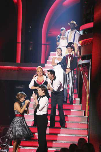 DANCING WITH THE STARS THE RESULTS SHOW - &#34;Episode 1602A&#34; - On TUESDAY, MARCH 26, one couple will face the first nail biting elimination on the season premiere of &#34;Dancing with the Stars the Results Show&#34; &#40;9:00-10:01 p.m., ET&#41;. The show will feature a musical performance by signer Josh Groban, who is set to perform his current single, &#34;Brave,&#34; with an 18-piece band accompanied by &#34;Dancing with the Stars&#34; alumni Chelsie Hightower and Dmitry Chaplin. Adding to the excitement, acclaimed Swedish duo Icona Pop will perform their hit song, &#34;I Love It.&#34; The results show will feature a spectacular opening performance by this season&#39;s pros and Troupe dancers. &#40;ABC&#47;Adam Taylor&#41; DOROTHY HAMILL, TRISTAN MACMANUS, WYNONNA JUDD, TONY DOVOLANI, SHARNA BURGESS, ANDY DICK, KARINA SMIRNOFF, JACOBY JONES <span class=meta>(Photo&#47;Adam Taylor)</span>