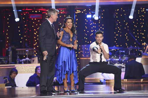 DANCING WITH THE STARS THE RESULTS SHOW - &#34;Episode 1602A&#34; - On TUESDAY, MARCH 26, one couple will face the first nail biting elimination on the season premiere of &#34;Dancing with the Stars the Results Show&#34; &#40;9:00-10:01 p.m., ET&#41;. The show will feature a musical performance by signer Josh Groban, who is set to perform his current single, &#34;Brave,&#34; with an 18-piece band accompanied by &#34;Dancing with the Stars&#34; alumni Chelsie Hightower and Dmitry Chaplin. Adding to the excitement, acclaimed Swedish duo Icona Pop will perform their hit song, &#34;I Love It.&#34; The results show will feature a spectacular opening performance by this season&#39;s pros and Troupe dancers. &#40;ABC&#47;Adam Taylor&#41; TOM BERGERON, ALEXANDRA RAISMAN, MARK BALLAS <span class=meta>(Photo&#47;Adam Taylor)</span>