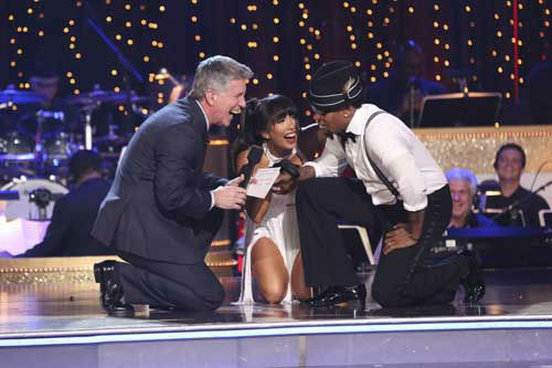 "<div class=""meta ""><span class=""caption-text "">DANCING WITH THE STARS THE RESULTS SHOW - ""Episode 1602A"" - On TUESDAY, MARCH 26, one couple will face the first nail biting elimination on the season premiere of ""Dancing with the Stars the Results Show"" (9:00-10:01 p.m., ET). The show will feature a musical performance by signer Josh Groban, who is set to perform his current single, ""Brave,"" with an 18-piece band accompanied by ""Dancing with the Stars"" alumni Chelsie Hightower and Dmitry Chaplin. Adding to the excitement, acclaimed Swedish duo Icona Pop will perform their hit song, ""I Love It."" The results show will feature a spectacular opening performance by this season's pros and Troupe dancers. (ABC/Adam Taylor) TOM BERGERON, CHERYL BURKE, D.L. HUGHLEY (Photo/Adam Taylor)</span></div>"