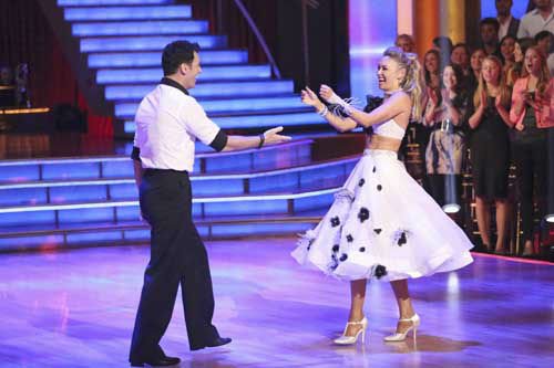 "<div class=""meta ""><span class=""caption-text "">DANCING WITH THE STARS THE RESULTS SHOW - ""Episode 1602A"" - On TUESDAY, MARCH 26, one couple will face the first nail biting elimination on the season premiere of ""Dancing with the Stars the Results Show"" (9:00-10:01 p.m., ET). The show will feature a musical performance by signer Josh Groban, who is set to perform his current single, ""Brave,"" with an 18-piece band accompanied by ""Dancing with the Stars"" alumni Chelsie Hightower and Dmitry Chaplin. Adding to the excitement, acclaimed Swedish duo Icona Pop will perform their hit song, ""I Love It."" The results show will feature a spectacular opening performance by this season's pros and Troupe dancers. (ABC/Adam Taylor) TONY DOVOLANI, KYM JOHNSON (Photo/Adam Taylor)</span></div>"