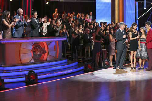"<div class=""meta image-caption""><div class=""origin-logo origin-image ""><span></span></div><span class=""caption-text"">DANCING WITH THE STARS THE RESULTS SHOW - ""Episode 1602A"" - On TUESDAY, MARCH 26, one couple will face the first nail biting elimination on the season premiere of ""Dancing with the Stars the Results Show"" (9:00-10:01 p.m., ET). The show will feature a musical performance by signer Josh Groban, who is set to perform his current single, ""Brave,"" with an 18-piece band accompanied by ""Dancing with the Stars"" alumni Chelsie Hightower and Dmitry Chaplin. Adding to the excitement, acclaimed Swedish duo Icona Pop will perform their hit song, ""I Love It."" The results show will feature a spectacular opening performance by this season's pros and Troupe dancers. (ABC/Adam Taylor) CARRIE ANN INABA, LEN GOODMAN, BRUNO TONIOLI, TOM BERGERON, BROOKE BURKE-CHARVET, DOROTHY HAMILL, TRISTAN MACMANUS (Photo/Adam Taylor)</span></div>"