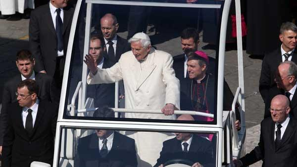 Pope's final audience before resignation