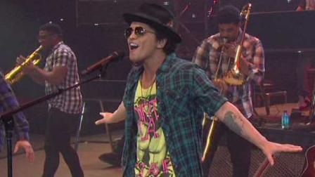 Bruno Mars performed in front of a Rodeo-record crowd Thursday night of more than 75,000