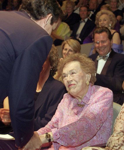 American cooking icon Julia Child, right, is greeted by chef Thomas Keller, left,  after he paid tribute to her during a retrospective at her 90th birthday celebration in Napa, Calif., Friday Aug. 2, 2002.   The event was held at COPIA, a museum for food, wine, and art which is hosting a three-day celebration of Julia Child&#39;s 90th birthday which is on Aug. 15.  Keller is a James Beard award-winning chef and cookbook author. &#40;AP Photo&#47;Eric Risberg&#41; <span class=meta>(AP Photo&#47; ERIC RISBERG)</span>