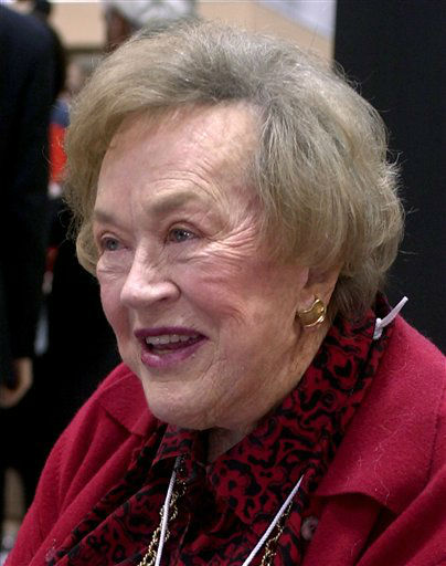 ** FILE ** Julia Child looks talks with friends at the Housewares Show on Jan. 14, 2001, in Chicago, Ill.  Child died Friday, Aug. 13, 2004, at her assisted living center home in Montecito  Calif., according to a relative anda publicist.   She was 91.  &#40;AP Photo&#47;&#47;Stephen J. Carrera&#41; <span class=meta>(AP Photo&#47; STEPHEN J. CARRERA)</span>