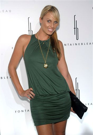 Professional swimmer Amanda Beard attends the Fontainebleau Miami Beach Hotel grand opening party on Friday, Nov. 14, 2008 in Miami Beach, Fla. Beard is one of the celebrities rumored to in the cast of season 13 of &#39;Dancing with the Stars&#39; which premieres September 19 at 7pm on ABC13. <span class=meta>(AP Photo&#47;Evan Agostini)</span>
