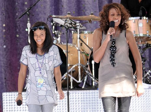 Singer Whitney Houston, right, sings with her daughter Bobbi Kristina Brown during a performance for &#39;Good Morning America&#39; in Central Park on Tuesday, Sept. 1, 2009 in New York. &#40;AP Photo&#47;Evan Agostini&#41; <span class=meta>(AP Photo&#47; Evan Agostini)</span>