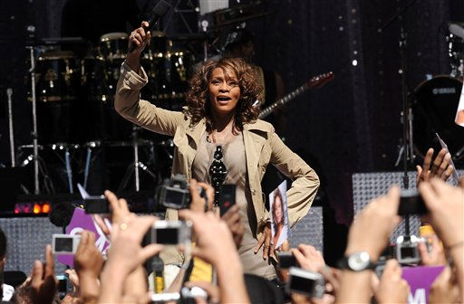 Singer Whitney Houston performs on 'Good Morning America' in Central Park on Tuesday, Sept. 1, 2009 in New York.