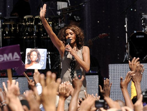 "<div class=""meta ""><span class=""caption-text "">Singer Whitney Houston performs on 'Good Morning America' in Central Park on Tuesday, Sept. 1, 2009 in New York.  </span></div>"