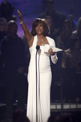 "<div class=""meta ""><span class=""caption-text "">FILE - In this Nov. 22,2009, file photo, Artist Whitney Houston receives the International Artist Award onstage at the 37th Annual American Music Awards in Los Angeles. Publicist Kristen Foster said, Saturday, Feb. 11, 2012, that singer Whitney Houston has died at age 48.  (AP Photo/Matt Sayles, File) (AP Photo/ Matt Sayles)</span></div>"