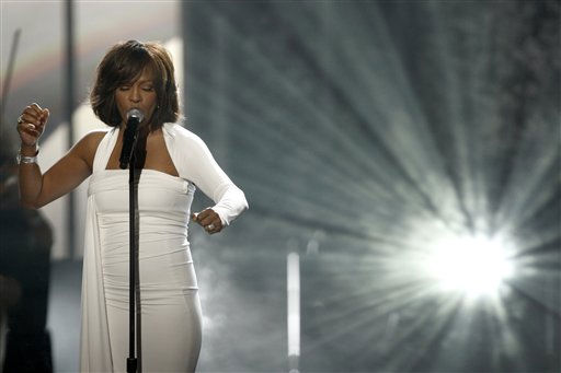 "<div class=""meta ""><span class=""caption-text "">In this Nov. 22, 2009, file photo, Whitney Houston performs at the 37th Annual American Music Awards in Los Angeles. Houston died Saturday, Feb. 11, 2012, she was 48.   (AP Photo/ Matt Sayles)</span></div>"