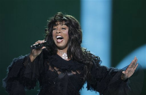 US singer Donna Summer performs at the Nobel Peace Prize concert in Oslo, Friday, Dec. 11, 2009. Artists from all over the world gathered at the Oslo Spektrum to help spread the message of peace and celebrate this year&#39;s Nobel Peace Prize laureate, President Barack Obama. <span class=meta>(AP Photo&#47; Odd Andersen)</span>