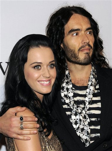 FILE - In this Jan. 30, 2010 file photo, Katy Perry and Russell Brand arrive at the annual Pre-GRAMMY Gala presented by The Recording Academy and Clive Davis at The Beverly Hilton Hotel in Beverly, Hills, Calif. Brand and Perry were married Saturday in a traditional Hindu wedding ceremony at a luxury resort in a tiger reserve in northwestern India, an official said. &#40;AP Photo&#47;Chris Pizzello, File&#41; <span class=meta>(AP Photo&#47; Chris Pizzello)</span>