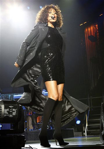 U.S. singer Whitney Houston performs at Saitama Arena in Saitama, near Tokyo, Japan, Thursday, Feb. 11, 2010. &#40;AP Photo&#47;Shizuo Kambayashi&#41; ** EDITORIAL USE ONLY,  ONE TIME USE ONLY ** <span class=meta>(AP Photo&#47; Shizuo Kambayashi)</span>