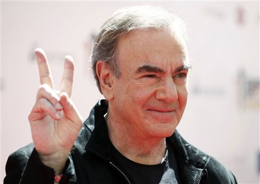 "<div class=""meta ""><span class=""caption-text "">Musician Neil Diamond arrives at the ""Stand Up To Cancer"" television event at Sony Studios in Culver City, Calif., on Friday, Sept. 10, 2010. The fundraising event aimed to raise funds for cancer research was simulcast live on several network and cable television stations.  (AP Photo/ Matt Sayles)</span></div>"