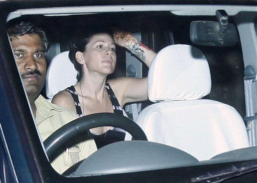 An unidentified guest arrives at the Aman e Khas hotel, a day after the wedding of Comedian Russell Brand and pop star Katy Perry  in Ranthambore, India, Sunday, Oct. 24, 2010. Brand and Perry were married Saturday in northwestern India, the couple confirmed in a statement. &#40;AP Photo&#47;Mustafa Quraishi&#41; <span class=meta>(AP Photo&#47; Mustafa Quraishi)</span>