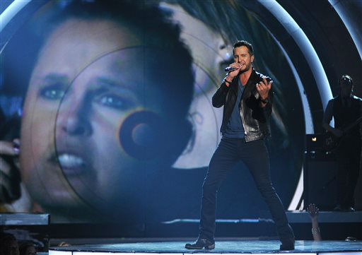 Luke Bryan performs on stage at the 49th annual Academy of Country Music Awards at the MGM Grand Garden Arena on Sunday, April 6, 2014, in Las Vegas. &#40;Photo by Chris Pizzello&#47;Invision&#47;AP&#41; <span class=meta>(Photo&#47;Chris Pizzello)</span>