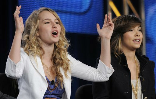 Bridgit Mendler, left, and Hayley Kiyoko, cast members in the Disney Channel original movie &#34;Lemonade Mouth,&#34; take part in a panel discussion during the Disney ABC Television Critics Association winter press tour in Pasadena, Calif., Monday, Jan. 10, 2011. The actress is one of the celebrities rumored to in the cast of season 13 of &#39;Dancing with the Stars&#39; which premieres September 19 at 7pm on ABC13. <span class=meta>(AP Photo&#47; Chris Pizzello)</span>