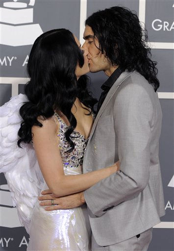 Katy Perry, left, and Russell Brand arrive at the 53rd annual Grammy Awards on Sunday, Feb. 13, 2011, in Los Angeles.  <span class=meta>(AP Photo&#47; Chris Pizzello)</span>