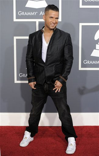 Michael &#34;The Situation&#34; Sorrentino arrives at the 53rd annual Grammy Awards on Sunday, Feb. 13, 2011, in Los Angeles. &#40;AP Photo&#47;Chris Pizzello&#41; <span class=meta>(AP Photo&#47; Chris Pizzello)</span>