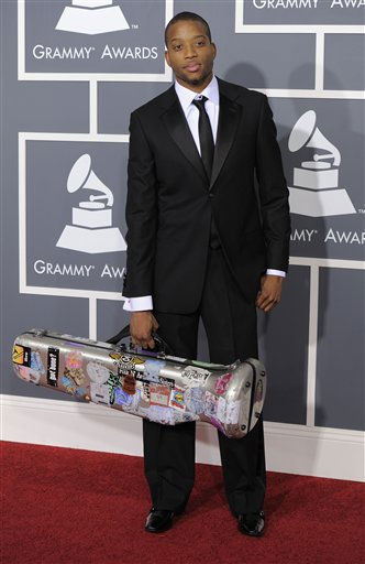 "<div class=""meta ""><span class=""caption-text "">Troy ""Trombone Shorty"" Andrews arrives at the 53rd annual Grammy Awards on Sunday, Feb. 13, 2011, in Los Angeles. (AP Photo/Chris Pizzello) (AP Photo/ Chris Pizzello)</span></div>"
