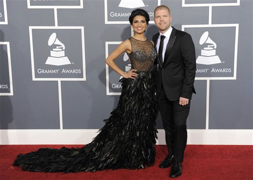 Nadia Ali, left, and Morgan Page arrive at the 53rd annual Grammy Awards on Sunday, Feb. 13, 2011, in Los Angeles. &#40;AP Photo&#47;Chris Pizzello&#41; <span class=meta>(AP Photo&#47; Chris Pizzello)</span>