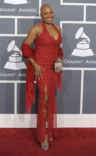 "<div class=""meta ""><span class=""caption-text "">Dee Dee Bridgewater arrives at the 53rd annual Grammy Awards on Sunday, Feb. 13, 2011, in Los Angeles. (AP Photo/Chris Pizzello) (AP Photo/ Chris Pizzello)</span></div>"