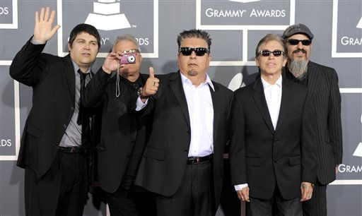 Los Lobos arrive at the 53rd annual Grammy Awards on Sunday, Feb. 13, 2011, in Los Angeles. &#40;AP Photo&#47;Chris Pizzello&#41; <span class=meta>(AP Photo&#47; Chris Pizzello)</span>