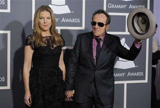 Diana Krall, left, and Elvis Costello arrive at the 53rd annual Grammy Awards on Sunday, Feb. 13, 2011, in Los Angeles. &#40;AP Photo&#47;Chris Pizzello&#41; <span class=meta>(AP Photo&#47; Chris Pizzello)</span>