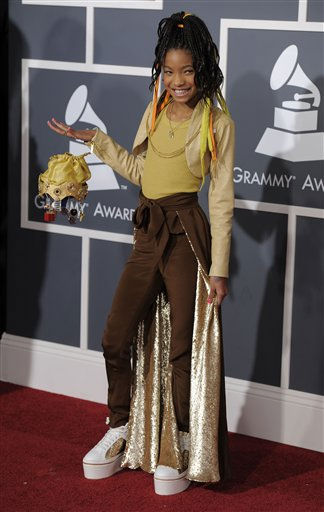 Willow Smith arrives at the 53rd annual Grammy Awards on Sunday, Feb. 13, 2011, in Los Angeles. &#40;AP Photo&#47;Chris Pizzello&#41; <span class=meta>(AP Photo&#47; Chris Pizzello)</span>