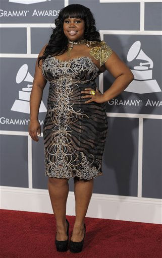 Amber Riley arrives at the 53rd annual Grammy Awards on Sunday, Feb. 13, 2011, in Los Angeles. &#40;AP Photo&#47;Chris Pizzello&#41; <span class=meta>(AP Photo&#47; Chris Pizzello)</span>