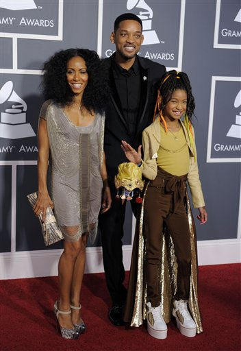 From left, Jada Pinkett Smith, Will Smith, and Willow Smith arrive at the 53rd annual Grammy Awards on Sunday, Feb. 13, 2011, in Los Angeles. &#40;AP Photo&#47;Chris Pizzello&#41; <span class=meta>(AP Photo&#47; Chris Pizzello)</span>