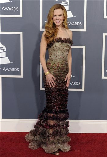 Nicole Kidman arrives at the 53rd annual Grammy Awards on Sunday, Feb. 13, 2011, in Los Angeles. &#40;AP Photo&#47;Chris Pizzello&#41; <span class=meta>(AP Photo&#47; Chris Pizzello)</span>