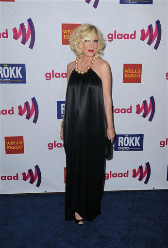 "<div class=""meta ""><span class=""caption-text "">Tori Spelling arrives to The 22nd Annual Glaad Media Awards on Sunday April 10, 2011, at at The Westin Bonaventure in Los Angeles, Calif. She is one of the celebrities rumored to be dancing on the 14th season of 'Dancing with the Stars' on ABC. The official cast will be revealed on February 28 on ABC.</span></div>"