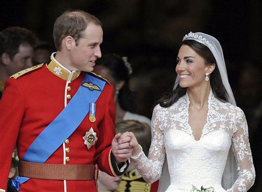 "<div class=""meta image-caption""><div class=""origin-logo origin-image ""><span></span></div><span class=""caption-text"">Britain's Prince William and his wife Kate, Duchess of Cambridge stand outside of Westminster Abbey after their Royal Wedding in London Friday, April, 29, 2011.   (AP Photo/ Martin Meissner)</span></div>"