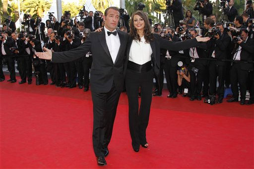 Actors Jean Dujardin and Berenice Bejo arrive for the screening of The Artist at the 64th international film festival, in Cannes, southern France, Sunday, May 15, 2011. &#40;AP Photo&#47;Francois Mori&#41; <span class=meta>(Photo&#47;Francois Mori)</span>