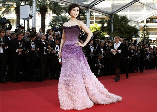 Actress Fan Bing Bing poses on the red carpet for the screening of The Artist at the 64th international film festival, in Cannes, southern France, Sunday, May 15, 2011. &#40;AP Photo&#47;Lionel Cironneau&#41; <span class=meta>(Photo&#47;Lionel Cironneau)</span>