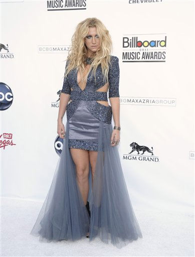 Singer Ke&#36;ha arrives at the 2011 Billboard Music Awards in Las Vegas on Sunday, May 22, 2011. &#40;AP Photo&#47;Dan Steinberg&#41; <span class=meta>(AP Photo&#47; Dan Steinberg)</span>