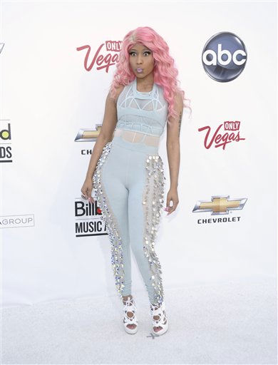 Singer Nicki Minaj arrives at the 2011 Billboard Music Awards in Las Vegas on Sunday, May 22, 2011. &#40;AP Photo&#47;Dan Steinberg&#41; <span class=meta>(AP Photo&#47; Dan Steinberg)</span>