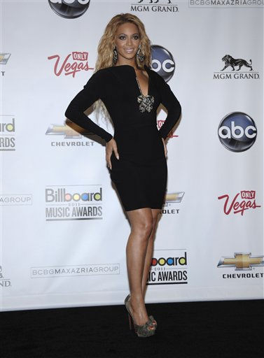 "<div class=""meta image-caption""><div class=""origin-logo origin-image ""><span></span></div><span class=""caption-text"">Singer Beyonce Knowles poses in the press room at the 2011 Billboard Music Awards in Las Vegas on Sunday, May 22, 2011. (AP Photo/Dan Steinberg) (AP Photo/ Dan Steinberg)</span></div>"