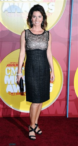 Shania Twain arrives at the 2011 CMT Music Awards in Nashville, Tenn. on Wednesday, June 8, 2011.  &#40;AP Photo&#47;Charles Sykes&#41; <span class=meta>(AP Photo&#47; Charles Sykes)</span>